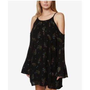 ✨NWTS Black Cold Shoulder Print Floral Dress ✨